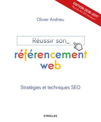 Page de couverture du livre Réussir son référencement web d'Olivier Andieur